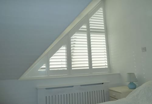 Triangular Window Shutters - Shuttersouth - Hampshire