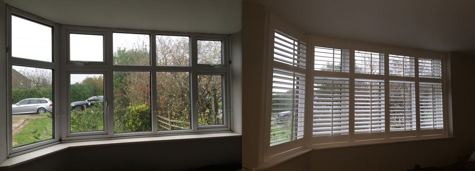 Bay Window Shutters Fitted in Guildford