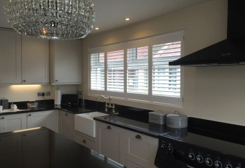 Full Heigh Plantation Shutters Fitted in Winchester
