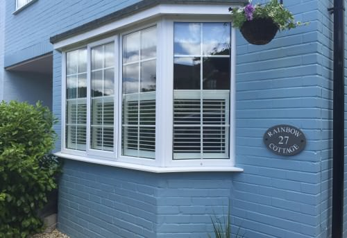 Cafe Style Shutters fitted in Lymington by Shuttersouth, Hampshire