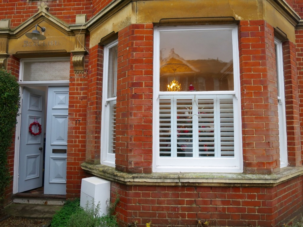 Bay Window Shutters Fitted in Winchester Outside