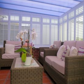 Conservatory Shutters Fitted by Shuttersouth, Hampshire - Inside