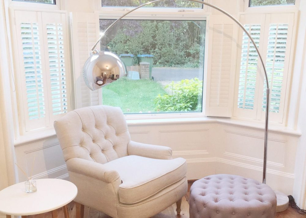 Cafe Style Bay Window Shutters Fitted in Southampton by Shuttersouth, Hampshire