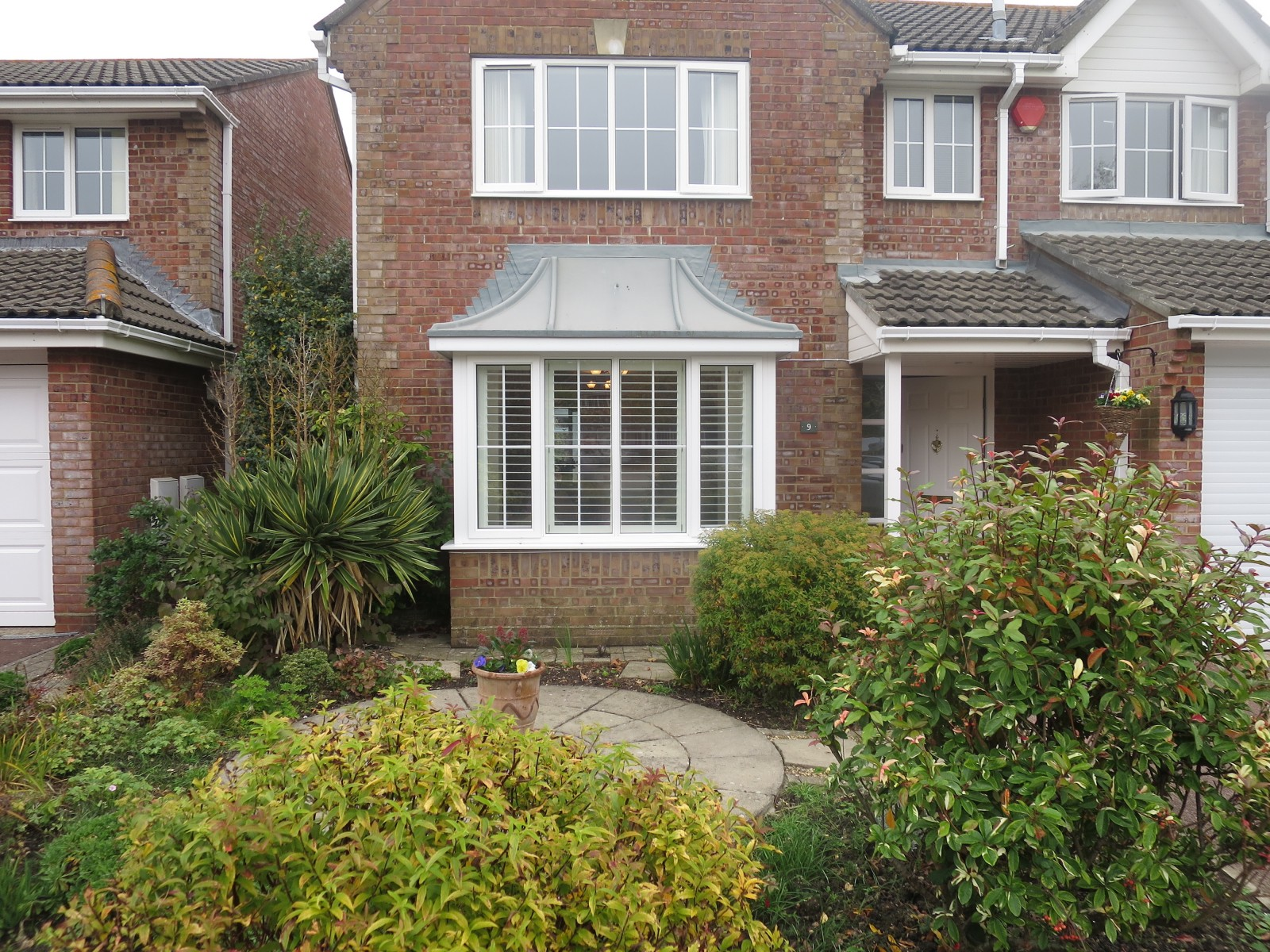 Bay windows exterior view - Bay Window Exterior Shutters Square Bay Window Shutters Lymington Exterior View
