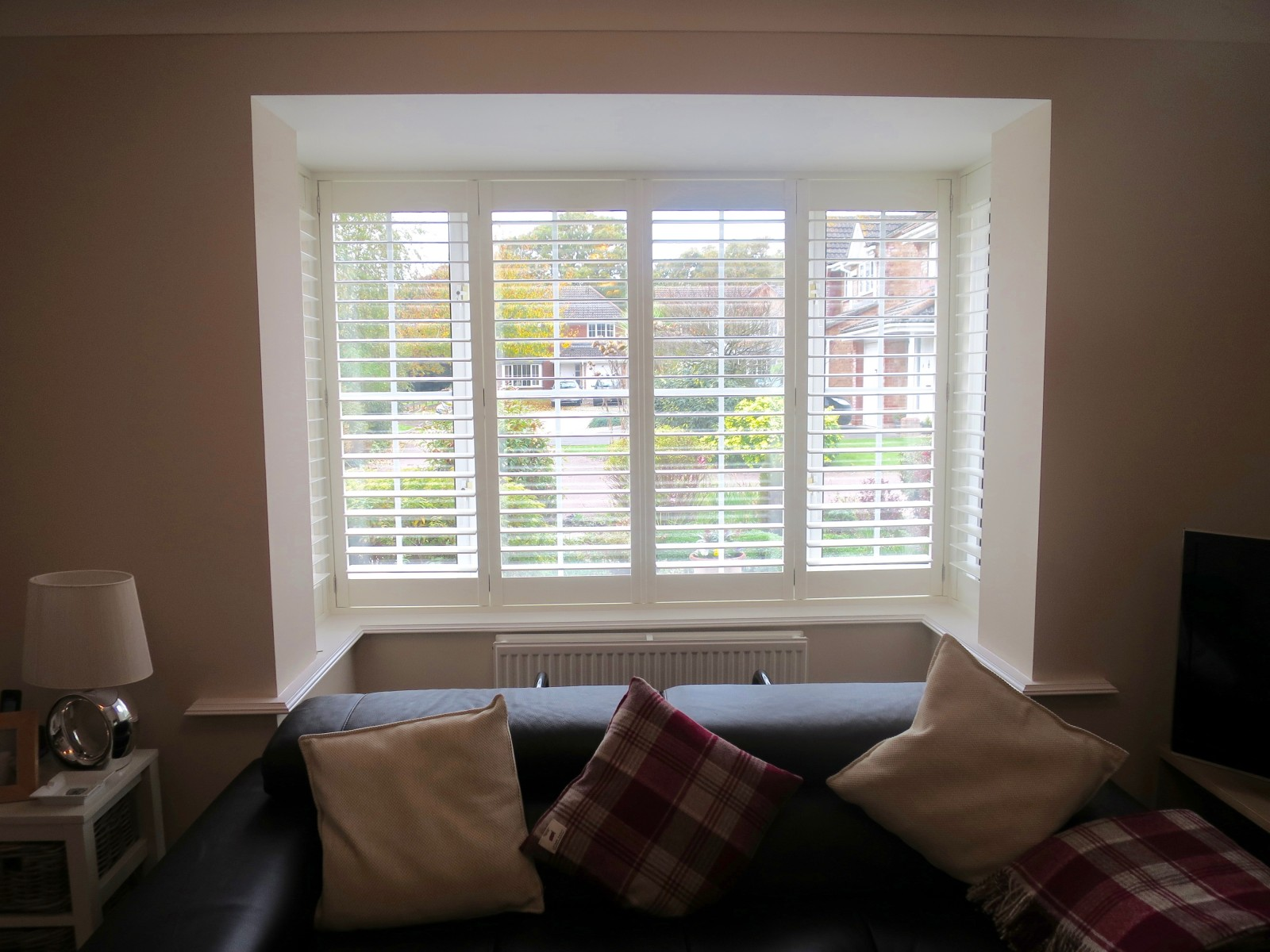 Square Bay Window Shutters Fitted In Lymington Shuttersouth