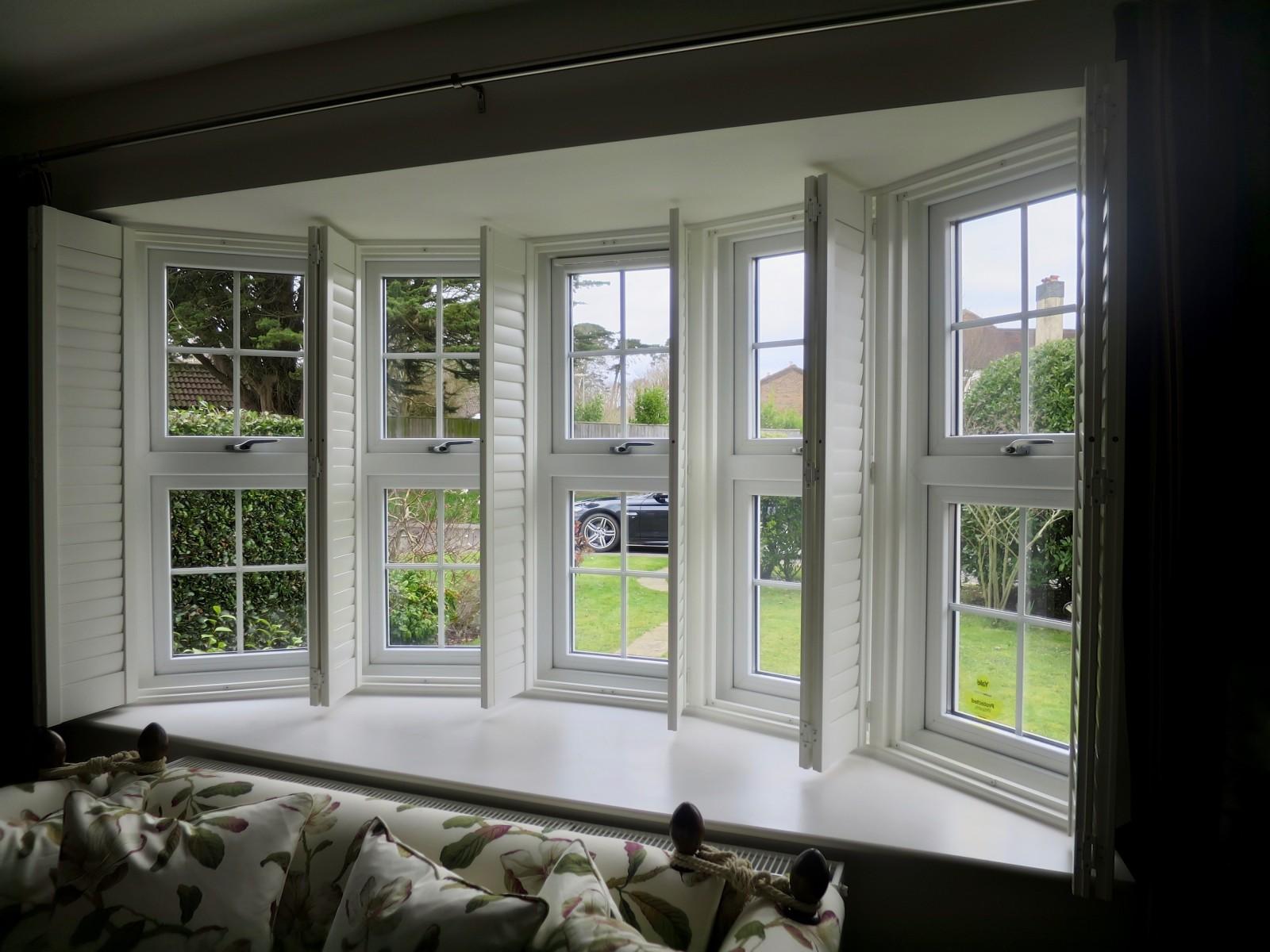 Bay Window Shutters - Bay window shutters fitted in lymington shuttersouth