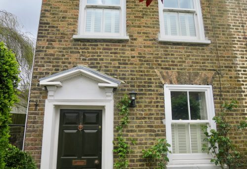 Tier-on-Tier Shutters Fitted in London by Shuttersouth - exterior
