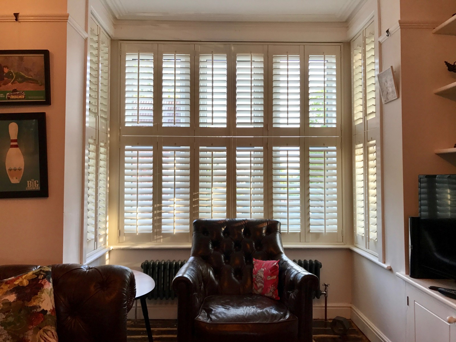 Box Bay Window Shutters fitted by Shuttersouth in Southampton