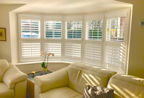 Bay Window Shutters Fitted in Lymington - Living Room