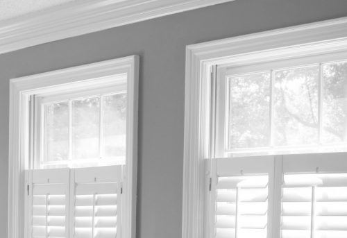 Cafe Style Shutters - Shuttersouth - B&W