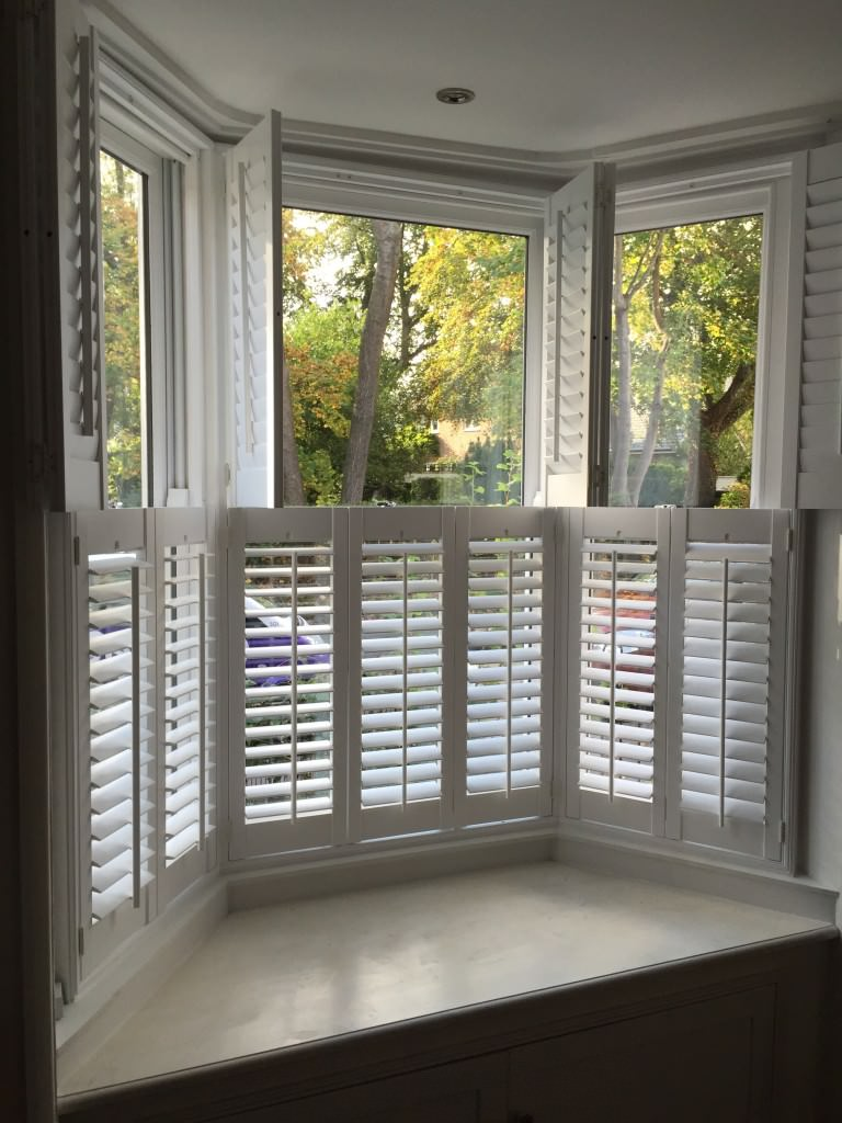 Bay Window Shutters Fitted In Netley Abbey Shuttersouth
