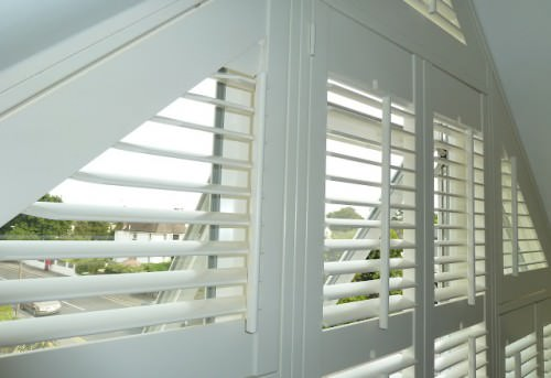 Multiple Shaped Window Shutters - Shuttersouth - Hampshire