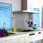 Kitchen Shutters - Blue - Shuttersouth