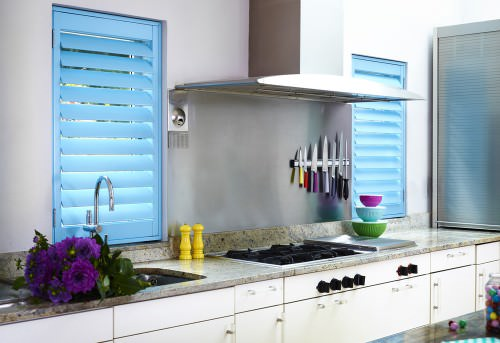 Kitchen Shutters - Blue - Shuttersouth