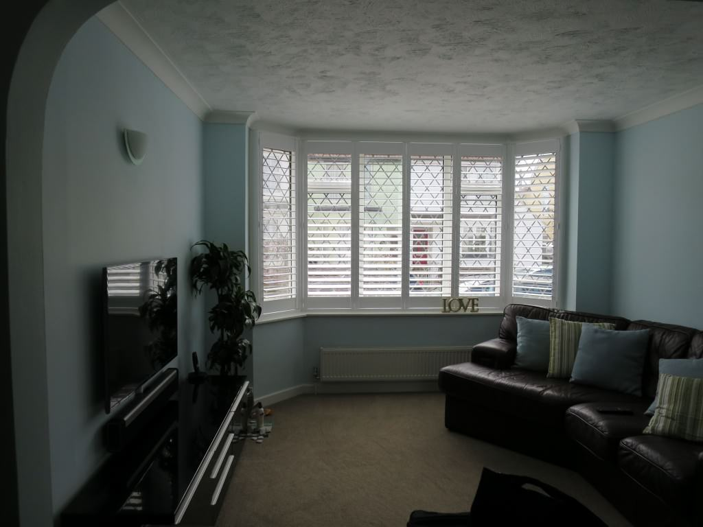 Full Height Plantation Shutters Fitted in Lee-on-Solent