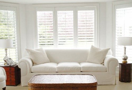 Full Height Living Room Shutters - Shuttersouth - Hampshire