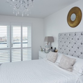 Bedroom Plantation Shutters - Centenary Quay Southampton - Shuttersouth