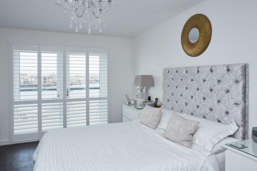 Bedroom Plantation Shutters - Centenary Quay Southampton - Shuttersouth