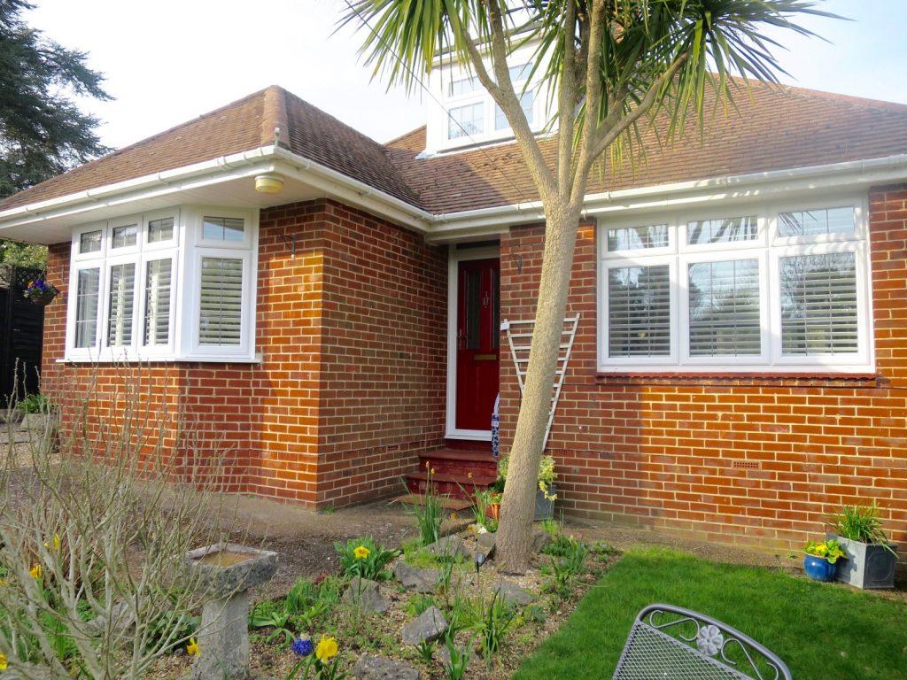 Bay Window Shutters Outside - Bursledon, Southampton, Shuttersouth