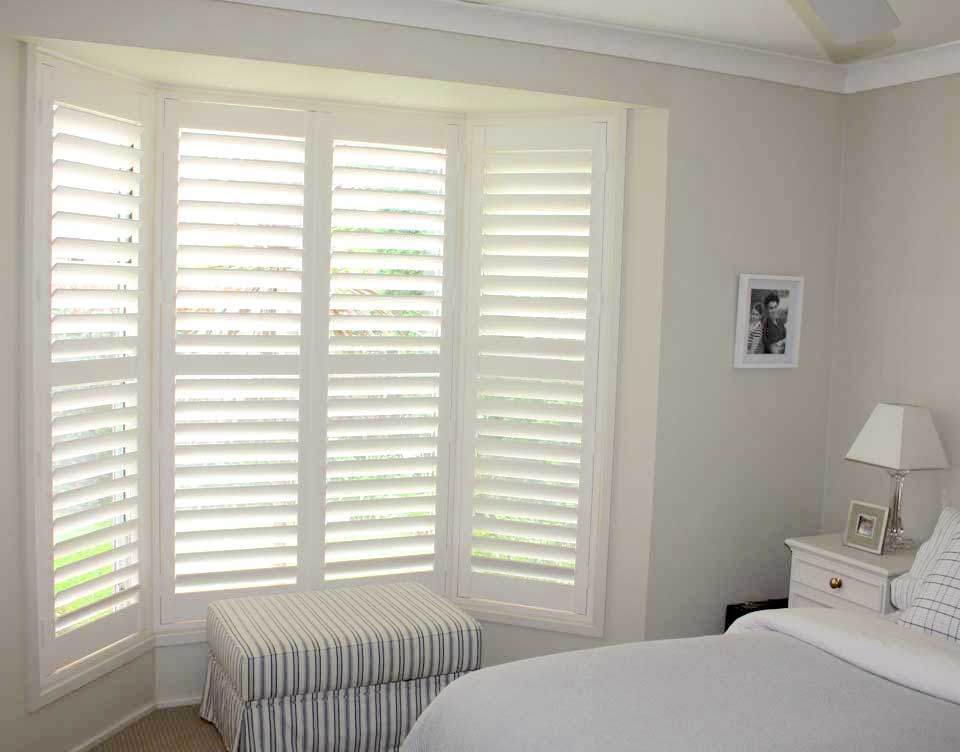 Bay Window Plantation Shutters - Bedroom - Fitted by Shuttersouth