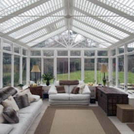 Conservatory Shutters Fitted by Shuttersouth, Hampshire - Inside Daytime
