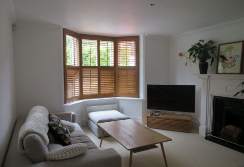 Winchester Hardwood Bay Window Shutters - Bishops Waltham