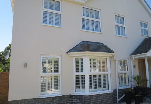 Full Height Shutters Add Curb Appeal to Modern Home in Warsash