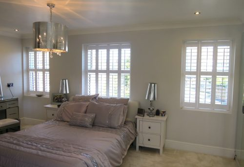 Full Height Shutters Fitted in Bedroom in Warsash by Shuttersouth