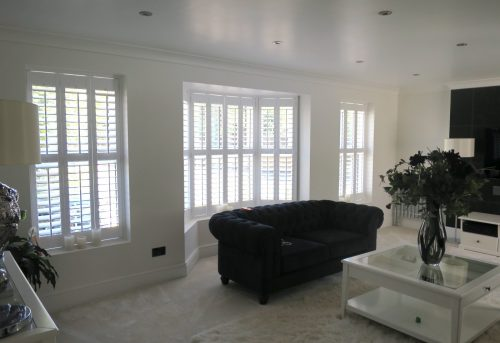 Full Height Shutters Fitted in Warsash living Room by Shuttersouth