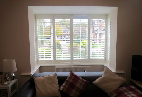Square Bay Window Shutters Lymington
