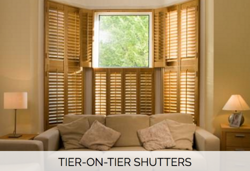 Tier-on-tier Shutters - Shuttersouth - West Sussex