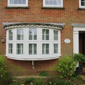 Bay Window Shutters Fitted in Lymington - Outside View - Shuttersouth