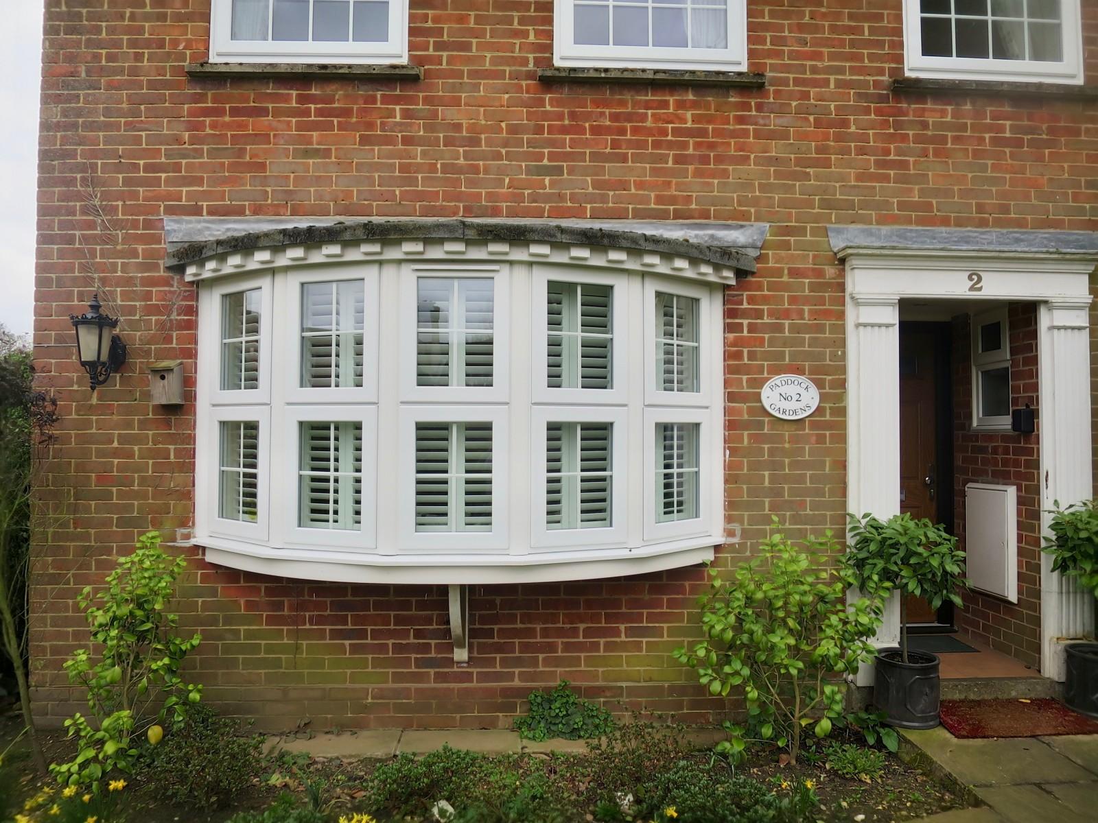 Outside bay windows - Bay Window Shutters Fitted In Lymington Outside View