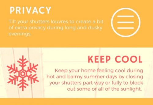 Benefits of Plantation Shutters During the Summer Infographic - Shuttersouth