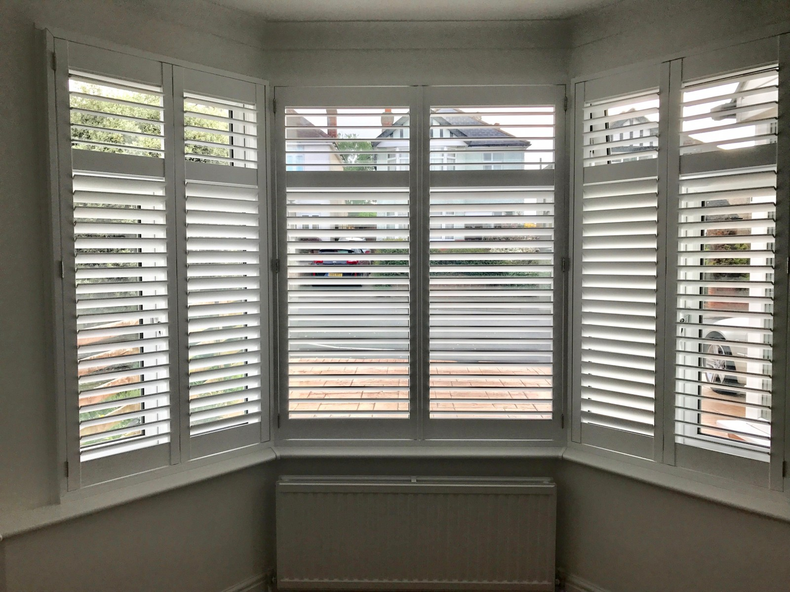 Bay Window Shutters Fitted In Bitterne Shuttersouth