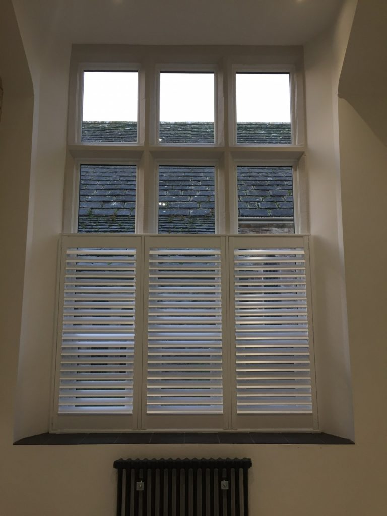Cafe Style Shutters Fitted in Swanage by Shuttersouth