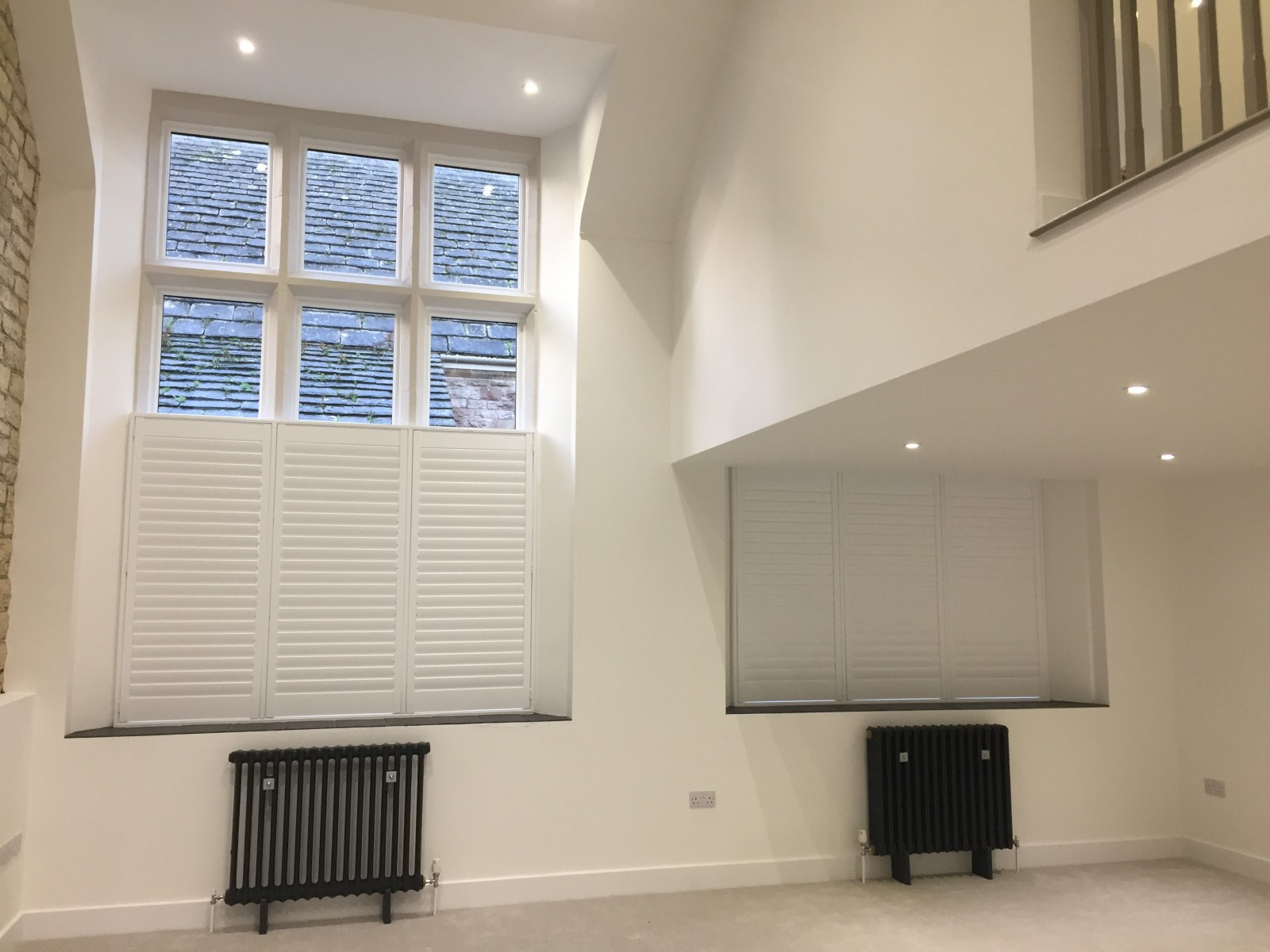 Large Window Shutters Fitted in Swanage by Shuttersouth