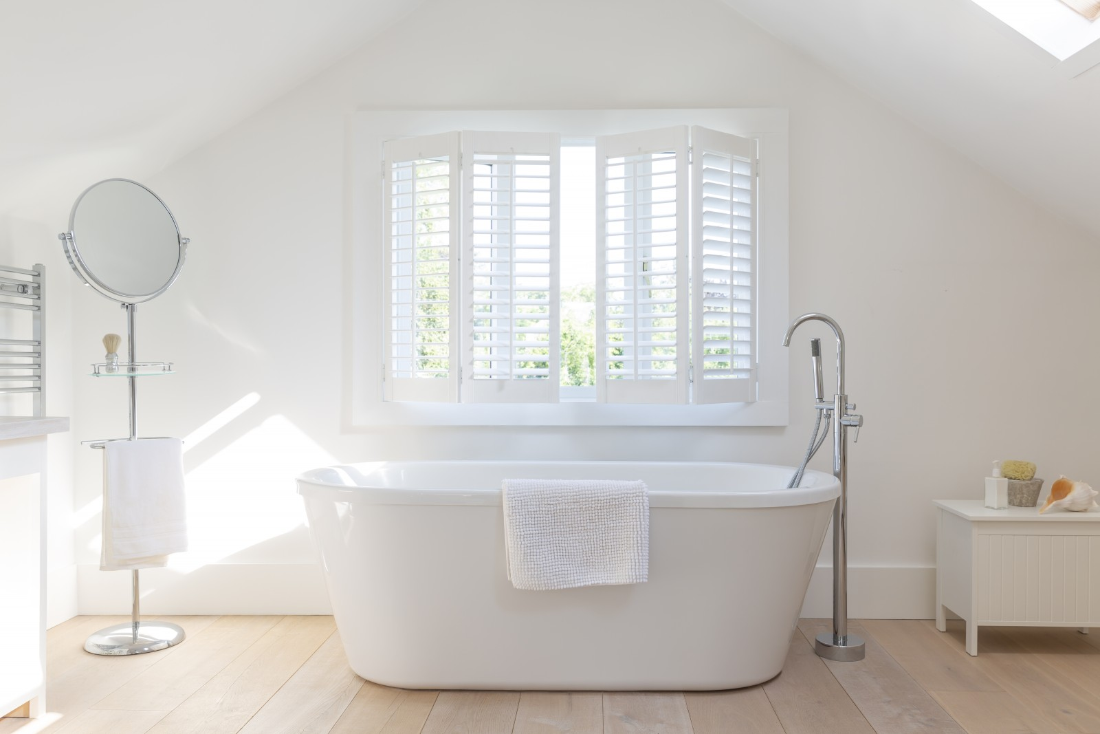 Tracked Shutters in Bathroom - Shuttersouth - Hampshire